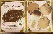 Too Faced Passport to Bronze 4pc Set Milk Chocolate Soleil Sun Bunny Flatbuki