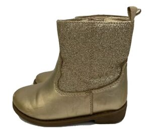 Carter's Kids Toddler Gold Western Boots Sparkly Glitter Gold Size 6C Dress Up