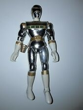 """POWER RANGERS Bandaï 1998 in space DX 8 """" 20cm argent silver"""
