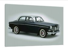 Volvo Amazon - 30x20 Inch Canvas - Framed Picture Print Classic Car Art