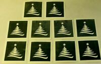 Christmas tree stencils for etching on glass  gift present hobby craft glassware