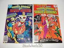 DC Special Series #10 & Super Stars #14 Comic Lot 1978 Secret Origins Heroes HTF