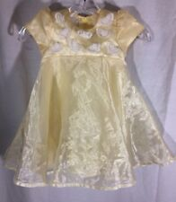 Biscotti Baby Girl Dress Special Occasion 24 Months Yellow A Line Butterflies