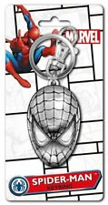 Marvel Comics Spider-Man Mask Face Metal Pewter Key Ring Keychain, NEW UNUSED