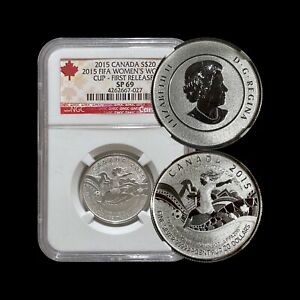 2015 Canada 20 Dollars (Silver) - NGC SP69 - Women's FIFA World Cup