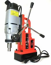 "1350W Magnetic Core Drill Press Machine 1"" Boring 3372 Lbs Magnet Force Mt2 Mt3"