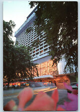 Singapore Hilton International Hotel Exterior Front View Vintage Postcard