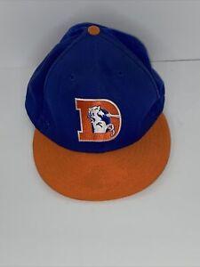 Denver Broncos Hat cap new ERA 59/ fifty classic Fitted Orange Crush 8 1/8 Retro