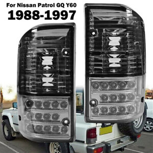 Pair LED Rear Tail Light Lamp for Nissan Patrol GQ Y60 1988-1997 Black Smoke ST