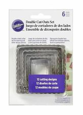 WILTON DOUBLE CUT-OUTS SQUARE SET - 6 PIECE