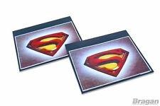 To Fit Scania Volvo DAF Mercedes Pair UV Rubber Superman Rear Mud Flap Mudguards