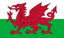 WALES WELSH LARGE DRAGON FLAG 5X3FT EYELETS FOR HANGING GOOD QUALITY Cymru Welsh