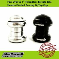 "FSA Orbit X 1"" Threadless Bicycle Bike Headset Sealed Bearing with Top Cap"