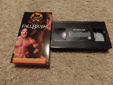 wcw FALL BRAWL 2000 vhs NON-RENTAL wrestling SHIP WORLDWIDE