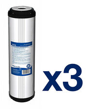 "3pk Activated Carbon Water Filter 10"" ideal for Reverse Osmosis"