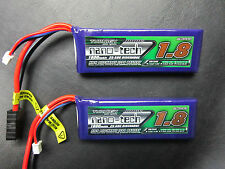 2 NANO 1800mah 2S 7.4V Lipo Battery 1/16 TRAXXAS E-Revo Slash Rally Summit VXL
