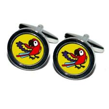 Round Yellow Parrot CUFFLINKS Bird Watcher Cruise Party Formal Birthday Present