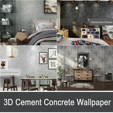 Rustic 3D Grey Cement Concrete Wallpaper Silver Charcoal Washed Cement Wallpaper