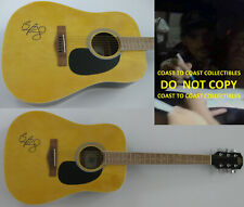 Brad Paisley signed, autographed, acoustic guitar,country music star, COA proof