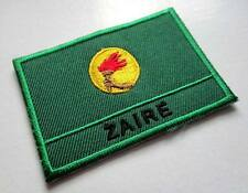 REPUBLIC OF ZAIRE NATIONAL FLAG Sew on Patch Free Postage