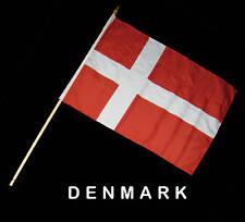 DENMARK DANISH Hand Waver Flag - 30x45cm