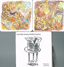 Illustrated Coasters  By PAUL COX  X 2 : The Folio Society : Very Collectable :