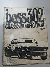 FORD MUSTANG BOSS 302 Chassis modification magazine - edited by Brock Yates USA