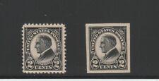 [71378] USA Scott #610-11 2¢ REGULAR ISSUE MINT HINGED
