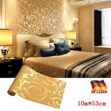 Fototapete 3D Metalloptik Vliestapete Gold Wohnzimmer Schlafzimmer Flur Modern