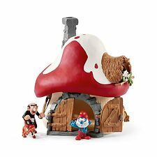 The Smurfs 20803 Schleich Smurf House with Papa Smurf and Gargamel and Azrael""