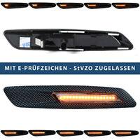 2x Dynamische LED Seitenblinker Carbon BMW  3er 5er X1 X3 E90 E60 E61 E84