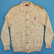 Men's KENNY ROGERS Vintage Cardigan Size Medium M/L 70s Hippie Sweater Jacket