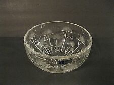 "Beautiful Cut Crystal ""Crystal Clear Industries"" Dandelion Cut Bowl - EXCELLENT"
