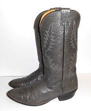 Men's Vintage Nocona Cowboy Boots Size 12D Western Gray Leather