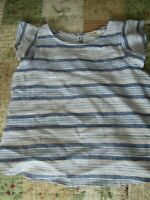 EUC Copper Key Girls Casual Blue Striped Top Size L 10