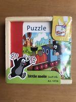 Bino 13716 Little Mole mini puzzle in wooden box