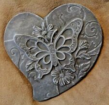 "butterfly heart mold concrete plaster casting mould 11"" x 11"" x .75"" thick"