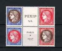 """FRANCE STAMP TIMBRE 348 / 351 """" CERES EXPOSITION PEXIP 1937 """" NEUFS xx LUXE P841"""