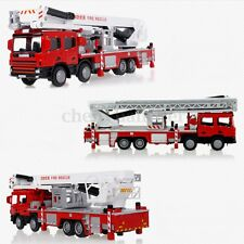 1:50 Diecast Aerial Fire Truck Construction Vehicle Cars Model Scale Toys