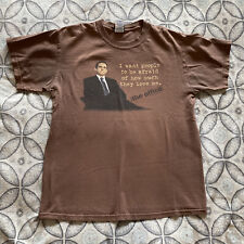 The Office Michael Scott Vintage 00s Brown T-shirt Men's Sz M Universal Studios