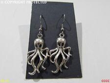 Steampunk earringsjewellery Plata Kraken Pulpo Hipoalergénico De Acero Inoxidable