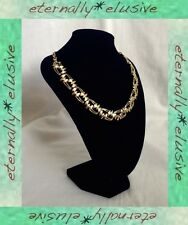 Vintage 1950s 1960s Un-Signed CORO Gold Plated Modernist Choker Necklace Ladies