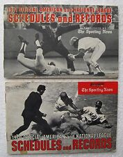 (2) TSN Major League  Baseball Schedules and Records Guide Booklets: 1970 & 1971