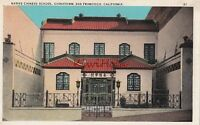 Postcard Native Chinese School Chinatown San Francisco CA