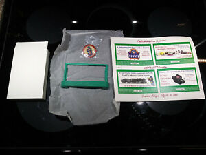 Lionel 2952 Green Billboard Sign Holder NIB with 2000 LCCA Convention Ads & Pin