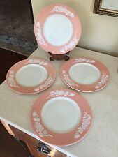 "Lenox APPLE BLOSSOM CORAL Set Of 4! 8.25"" Salad or Lunch Plate(s) 1906-1930"