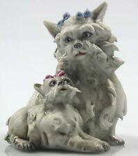 Yorkshire terrier porzellanfigur hund hundefigur yorkie porzellan figur Malteser