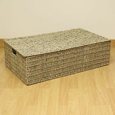 Large Natural Woven Wicker Underbed Storage Chest Bedding/Blanket Box/Trunk