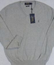 Polo Ralph Lauren Pima Cotton VNeck Sweater Gray XL NWT