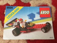 Lego TOWN 6526 Red Line Racer instruction manual book ONLY 1989